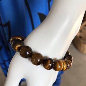 Jewelry - Genuine Tiger's Eye Stretch Bracelet